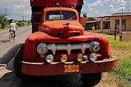 Truck in San Cristobal, Artemisa, Cuba.