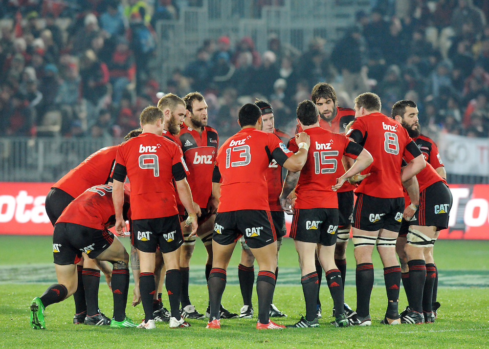 Crusaders against the Sharks in the Super Rugby match at Trafalgar Park, Nelson, New Zealand, Saturday, June 25, 2011. Credit:SNPA/Ross Setford
