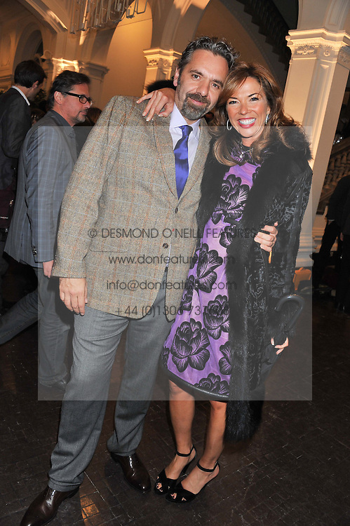 KEITH TYSON and HEATHER KERZNER at a party to celebrate the launch of the new gallery Pace at 6 Burlington Gardens, London on 3rd October 2012.