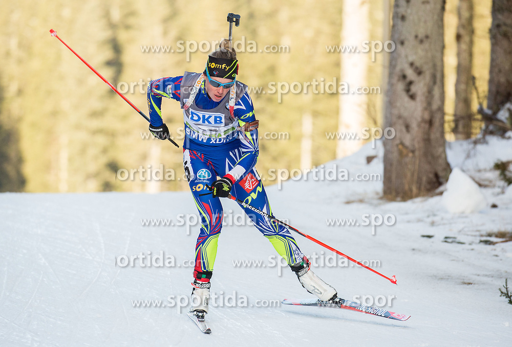 Marie Dorin Habert (FRA) competes during Women 7,5 km Sprint at day 2 of IBU Biathlon World Cup 2015/16 Pokljuka, on December 18, 2015 in Rudno polje, Pokljuka, Slovenia. Photo by Vid Ponikvar / Sportida