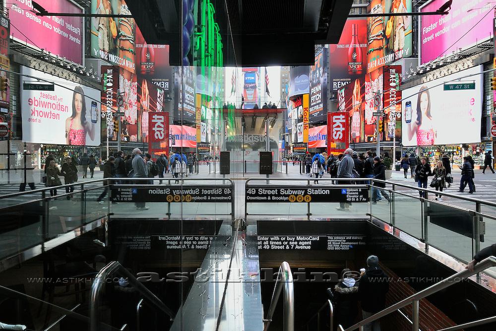United States, New York, Manhattan, Times Square.