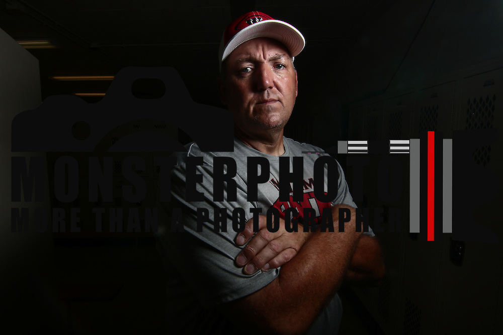 William Penn Head Football Coach Marvin Dooley pose for a photo during for a preseason feature shoot Thursday, August. 25, 2016, at Willian Penn High School in New Castle.