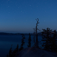 Crater Lake beneath the stars