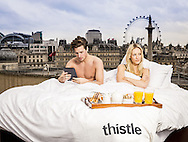 Mandatory Credit: Photo by Tom Dymond/REX (3541505cd)<br /> To announce Thistle and BT's new partnership offering free, fast and unlimited wi-fi across the chain's 36 UK hotels, research conducted by glh. reveals one in 20 of us admit we would rather spend time online than with our partners when on holiday<br /> Thistle Hotels - WiFi Shoot - London, Britain  - 31 Jan 2014<br /> <br /> &copy; Tom Dymond<br /> <br /> Tom Dymond <br /> <br /> info@tomdymond.co.uk<br />  00447825740400