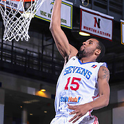 Delaware 87ers Forward Rahlir Hollis-Jefferson (15) drives towards the basket in the first half of a NBA D-league regular season basketball game between the Delaware 87ers and the Santa Cruz Warriors (Golden State Warriors) Tuesday, Jan. 13, 2015 at The Bob Carpenter Sports Convocation Center in Newark, DEL