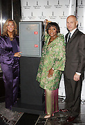 l to r: Denise Rich,  Patti Labelle and Jim Connors at The Empire State Building lighting ceremony, where the world's most famous office buiding will shine brightly in ths colors of Gabrielle's Angel Foundation for Cancer Research, red and purple, on the night of Gabrielle's Gala..The mission of Gabrielle's Angel Foundation is to fund basic and clinical medical research in both conventional and intergrativedisciplines which focus on prevention, treatment and quality of life issues of leukemia, lymphoma and related cancers.