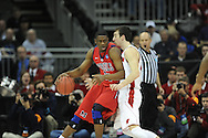 Ole Miss' Reginald Buckner (23) vs. Wisconsin's Frank Kaminsky (44) in the NCAA Tournament at the Sprint Center in Kansas City, Mo. on Friday, March 22, 2013.