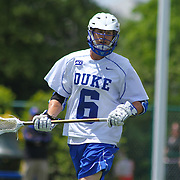 Duke Midfielder Will Haus (6) seen in the first half of The NCAA Division I Men's Lacrosse Tournament game between the Defending national champion Duke and No. 8 ranked Johns Hopkins Sunday, May. 18, 2014 at Delaware Stadium in Newark, DEL