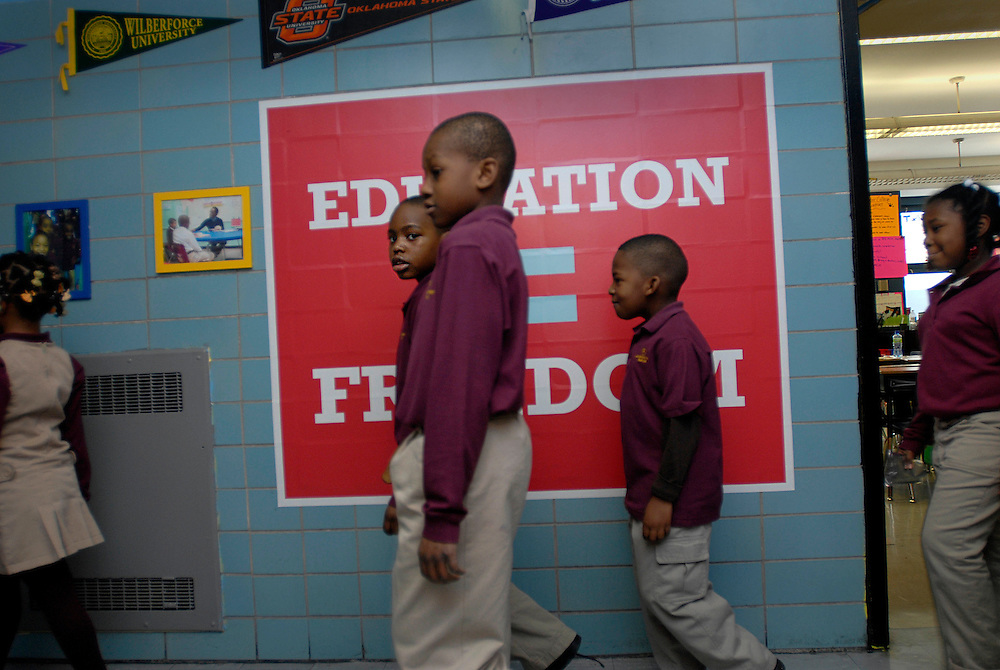 Achievement First Bushwick Elementary Academy in Brooklyn is a Charter School based on the successful Amistad Academy in New Haven Connecticut. The school is atypical from public schools in NYC with smaller classes and motivational slogans covering the walls of the halls.