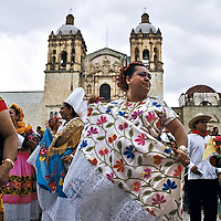 Regional dancers perform at La Guelaguetza in Oaxaca, Mexico.