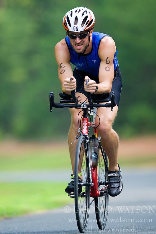 CHARLOTTESVILLE, VA - July 27, 2008 - JASON FARR in The 2008 Charlottesville International Triathlon was held at Walnut Creek Park in Albemarle County near Charlottesville, Virginia, USA.