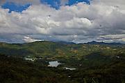 View of Lake Toa Vaca and the Cordillera Central region of Puerto Rico