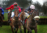 22/1/2004.TJ Murphy on Kilbeggan Lad (right) comes up the final straight on the way to winning the Aer Rianta Cork Airport Handicap Hurdle from GT Hutchinson on Watts Hill (left)..Picture Dylan Vaughan