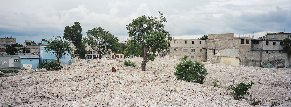 Rubble from demolished buildings  covers an entire city block on Sunday, December 14, 2014 in Port-au-Prince, Haiti. Several square blocks of residences and small businesses have been demolished near the city center, with no warning to residents or compensation for renters, to make way for an expected development project.