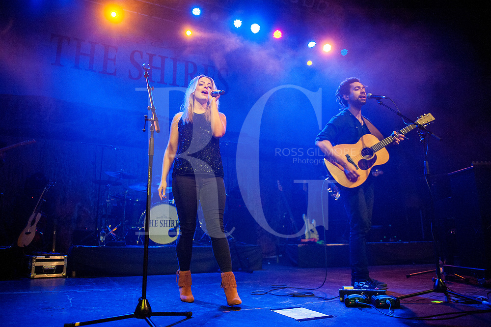 Crissie Rhodes and Ben Earle of The Shires perform at O2 ABC Glasgow on December 7, 2016 in Glasgow, Scotland. (Photo by Ross Gilmore)