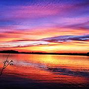 sunset at Lake Minnetonka