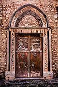 Church doorway, Corso Umberto, Taormina, Sicily, Italy