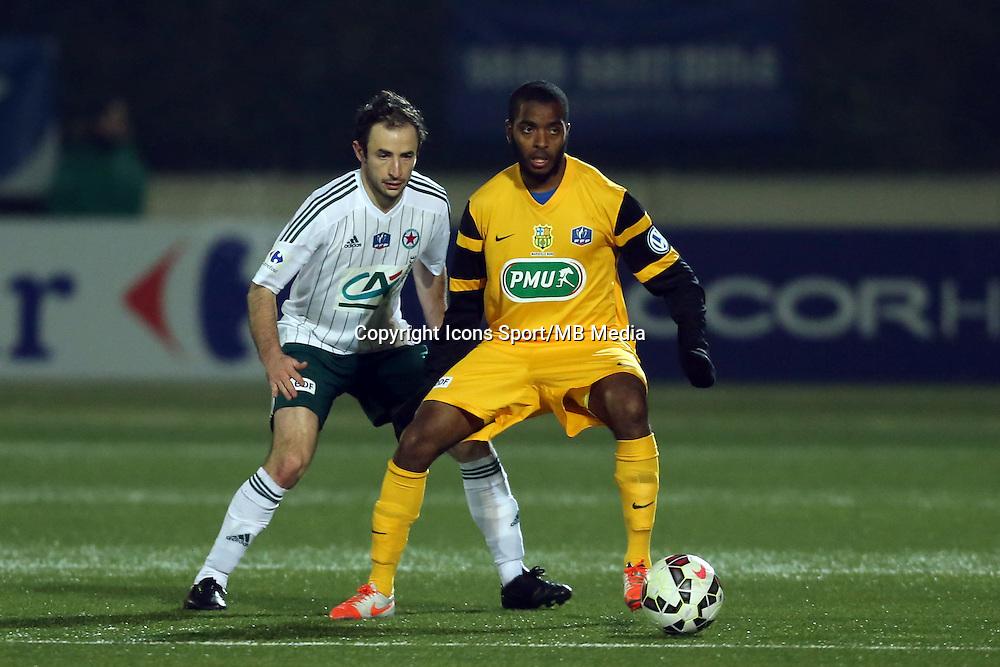 Youssouf M'CHANGAMA  - 23.01.2015 - Red Star / Marseille Consolat - Coupe de France<br /> Photo : Sebastien Muylaert / Icon Sport
