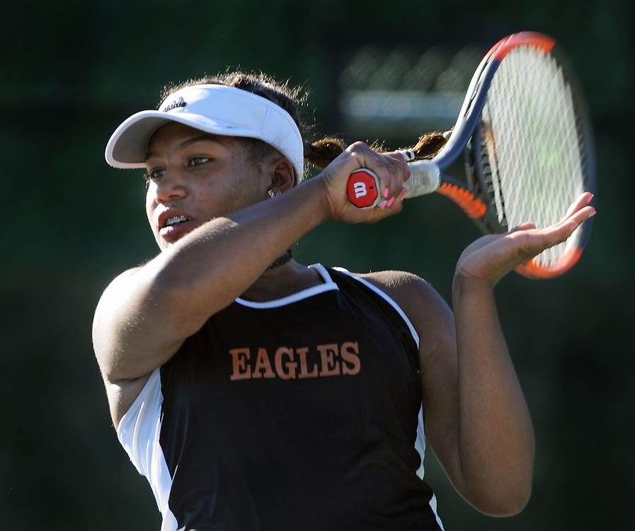 girls state tennis5/sports/jim thompson/ Girls 6A State Tennis championships.  Thursday May. 04, 2017. (Jim Thompson/Albuquerque Journal)
