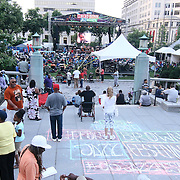 A large crowd gathers at Rodney Square Park for day two of the 26th annual duPont Clifford Brown Jazz Festival Thursday, June 19, 2014, in Wilmington, DEL.    <br /> <br /> &ldquo;The Clifford Brown Jazz Festival is a staple of Wilmington&rsquo;s performing arts culture,&rdquo; said Mayor Dennis P. Williams. &ldquo;The City is excited to celebrate the 26th anniversary and I hope the community gets involved and enjoys all of the many activities the festival has to offer.&rdquo;<br /> <br /> The Clifford Brown Jazz festival is the largest FREE out door music event on the east coast of the United States.