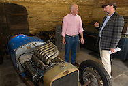 """Julian Majzub, founder / owner of """"Blockley tyre"""" at home in Gloucestershire. Delage 2LCV from 1925 with compressor V12 2 liter supercharged."""