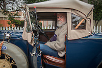 """Calistoga resident John Davis with his 1931 Model A Roadster.  """"I paid $5 for my first Model A, $25 for my second one, and $500 for my third...I just paid $17,500 for this one.""""  Mr. Davis has lived in the Calistoga area since 1972.  hugo31@comcast.net"""