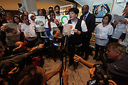 civil society walkout in protest at COP19 UN climate change conference in Warsaw