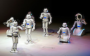 Music played by Toyota robots at the Toyota robot show. AICHI WORLD EXPO 2005, Nagoya 6-April-2005, Japan