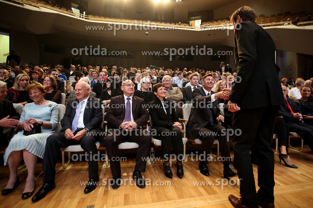 Iztok Cop and Borut Pahor at Slovenian Sports personality of the year 2015 annual awards presented on the base of Slovenian sports reporters, on December 8, 2015 in Cankarjev dom, Ljubljana, Slovenia. Photo by Matic Klansek Velej / Sportida
