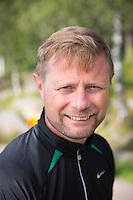 OSLO, 20150727: Helseminister Bent Høie og Dag Terje Klarp Solvang holder seg i form med sykling rundt Sognsvann.  FOTO: TOM HANSEN