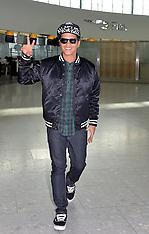 FEB 20 2014  Bruno Mars departs Heathrow Airport