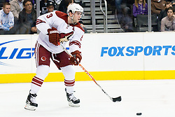 Keith Yandle (Phoenix Coyotes, #3) during ice-hockey match between Los Angeles Kings and Phoenix Coyotes in NHL league, March 3, 2011 at Staples Center, Los Angeles, USA. (Photo By Matic Klansek Velej / Sportida.com)