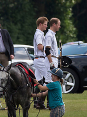 JUNE 01 2014 Prince William and Prince Harry play in the Audi Challenge polo
