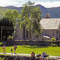Europe, United Kingdom, Wales, Snowdonia, Beddgelert. St. Mary's Church.