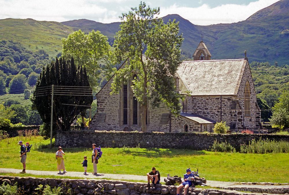 Europe, United Kingdom, Wales, Snowdonia, Beddgelert. St. Mary's Church.