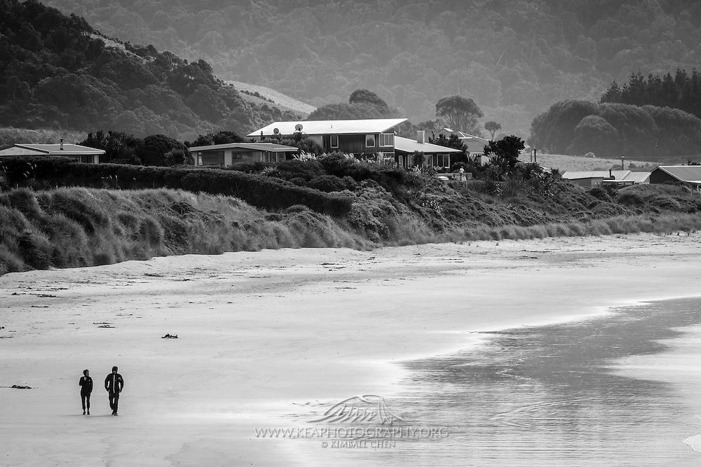Walking along Porpoise Bay, Catlins, New Zealand