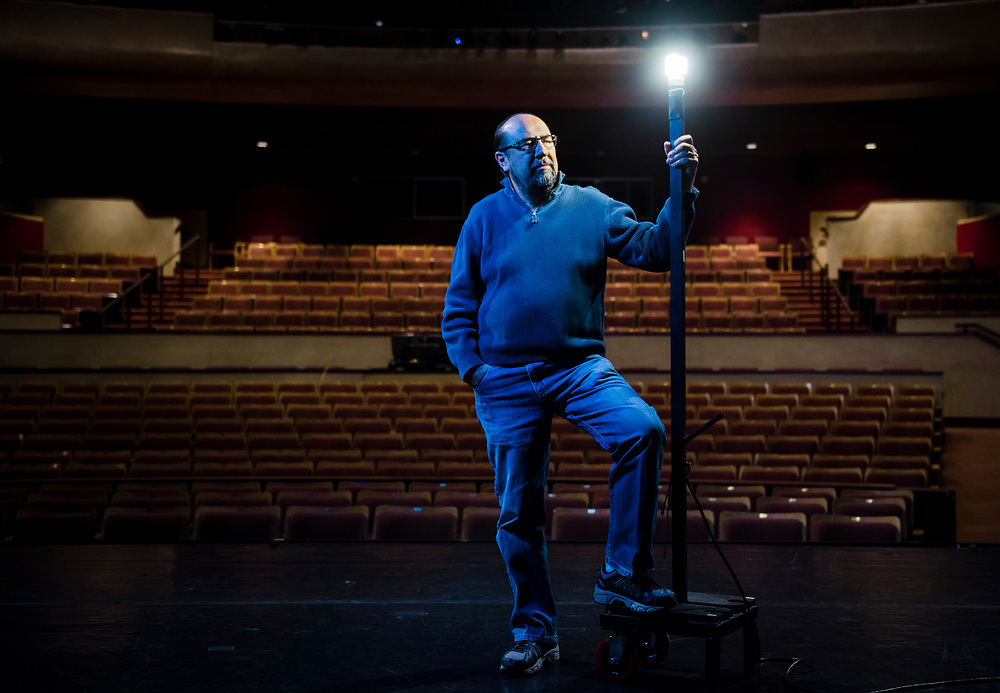 rer040617h/Arts/04.06.2017/Roberto E. Rosales <br /> Pictured is Joseph Wasson (cq) who is retiring from the NHCC after 16 years. <br />  Albuquerque, New Mexico(Roberto E. Rosales/Albuquerque Journal)
