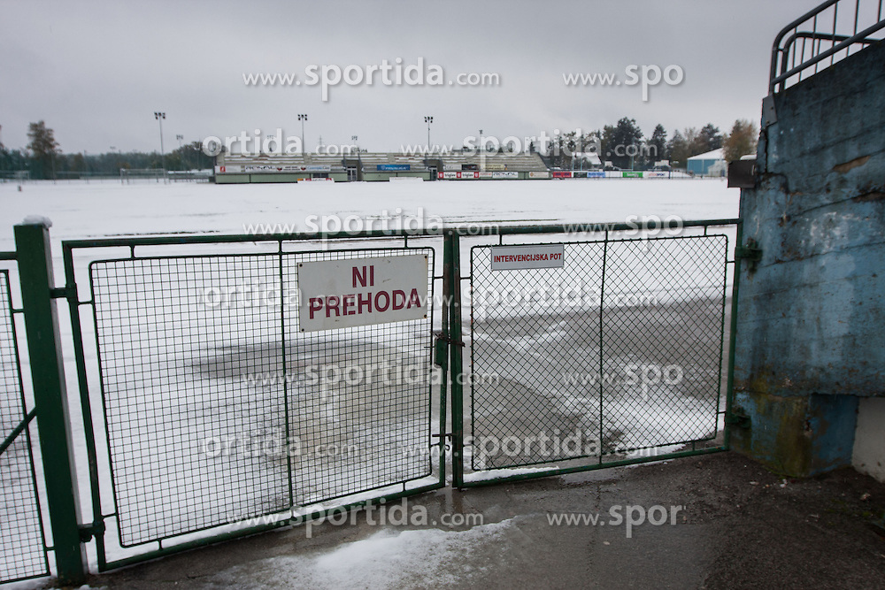 Postponed, due to weather conditions, football match between NK Triglav and NK Rudar in 15th Round of Slovenian First League PrvaLiga NZS 2012/13 on October 28, 2012 at Sporti park Kranj, Slovenia. (Photo By Grega Valancic / Sportida)