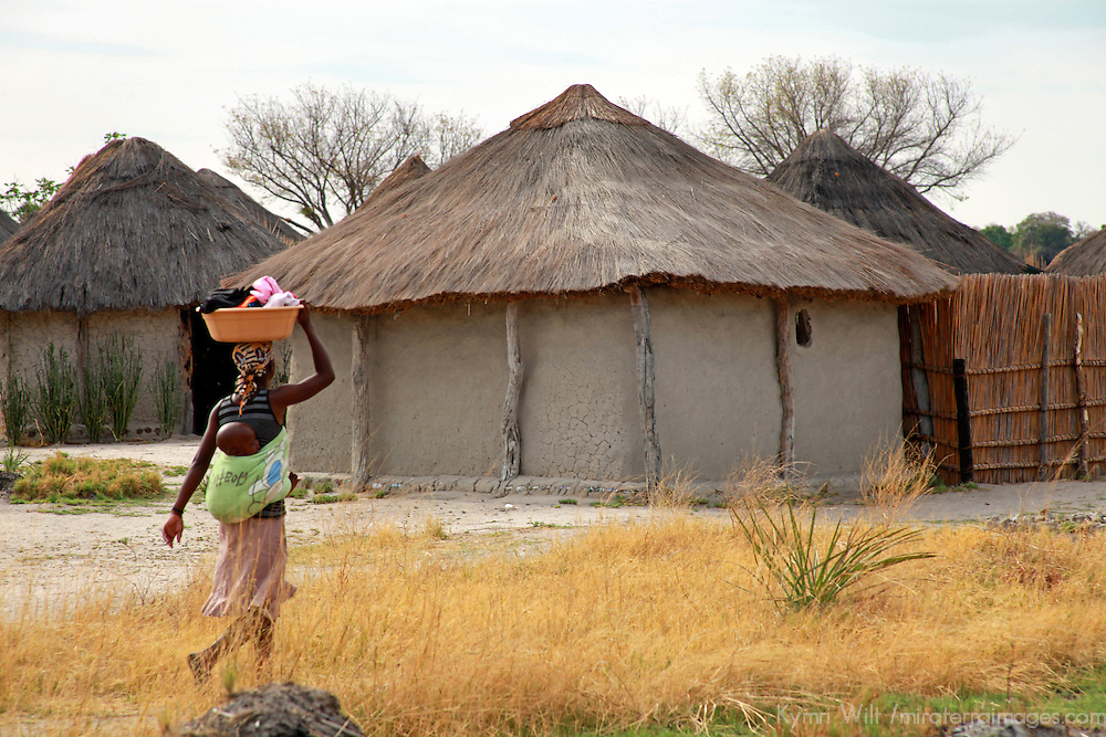 Africa, Botswana, Okavango Delta. Village life in the delta.