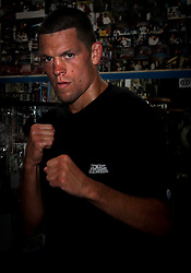 May 3, 2012; New York, NY; USA;  Nate Diaz during the media workouts for UFC on FOX 3 at the Church Street Boxing Gym in New York, New York.