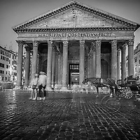 Infrared photography, Pantheon Rome , Italy