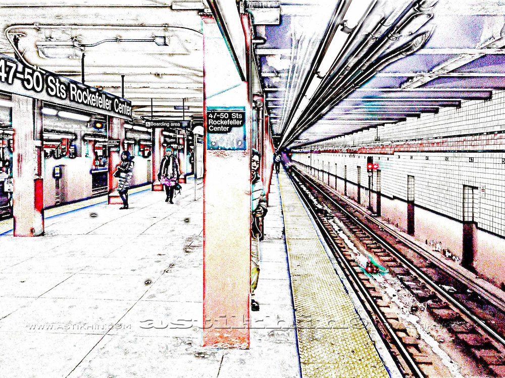 New York City subway station, NYC, USA
