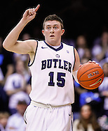INDIANAPOLIS, IN - JANUARY 26: Rotnei Clarke #15 of the Butler Bulldogs is seen during the game against the Temple Owls at Hinkle Fieldhouse on January 26, 2013 in Indianapolis, Indiana. (Photo by Michael Hickey/Getty Images) *** Local Caption *** Rotnei Clarke