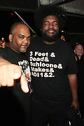 "June 2, 2012- Philadelphia, PA, United States: (L-R) Recording Artist Mace(De La Soul) and Quest?Love(The ROOTS) attend the 5th Annual ROOTS Picnic held at Festival Pier at Penn's Landing in Philadelphia, PA . The Roots is an American hip hop/neo soul band formed in 1987 by Tariq ""Black Thought"" Trotter and Ahmir ""Questlove"" Thompson in Philadelphia, Pennsylvania. They are known for a jazzy, eclectic approach to hip hop which includes live instrumentals. (Photo by Terrence Jennings)"