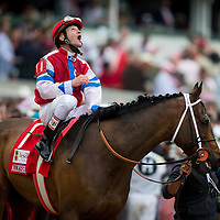 May 01, 2014: Moonshine Mullin with Calvin Borel up wins Alysheba Stakes at Churchill Downs in Louisville Ky. Alex Evers/ESW/CSM