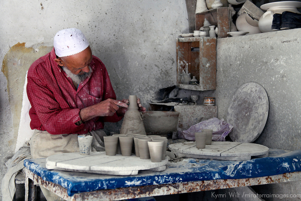 Africa, Morocco, Fes. Ceramic Artisan of Fes.