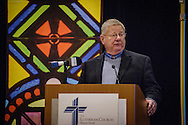 The Rev. John T. Pless, assistant professor of Pastoral Ministry and Missions and director of Field Education at Concordia Theological Seminary, Fort Wayne, Ind., leads a sectional during the 2017 LCMS Life Conference on Saturday, Jan. 28, 2017, in Arlington, Va. LCMS Communications/Erik M. Lunsford