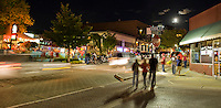 Dickson Street in Fayetteville Arkansas after a Razorback football game.