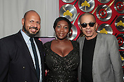 "September 18, 2012- Harlem, New York: (L-R) Emil Wilbekin, Editor-in-Chief, Essence.com, Media Personality Bevy Smith, and Designer Stephen Burroughs at Sylvia's Restaurant 50th Anniversary Golden Jubliee Gala celebrating the life and legacy of the late Sylvia Woods and held at Sylvia's Restaurant on September 18, 2012 in the Village of Harlem, USA. The 50th Anniversary Gala salutes Sylvia's as ""the world's kitchen"" and celebrates a legend of the historic Harlem community. With an invite-only fundraising event for 500+ guests, the night kicked-off with a lavish cocktail hour and live performances from Sylvia's A-list guests, many of whom have made Sylvia's a home away from home for the past 5 decades. (Terrence Jennings)"
