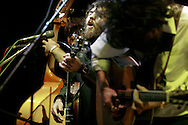 The Avett Brothers perform at Pickathon, the annual roots music festival near Portland, Oregon.